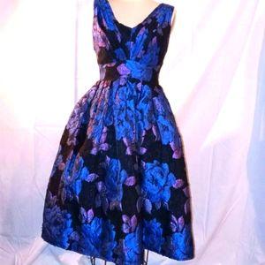 Asos royal blue 1950s princess gown 4